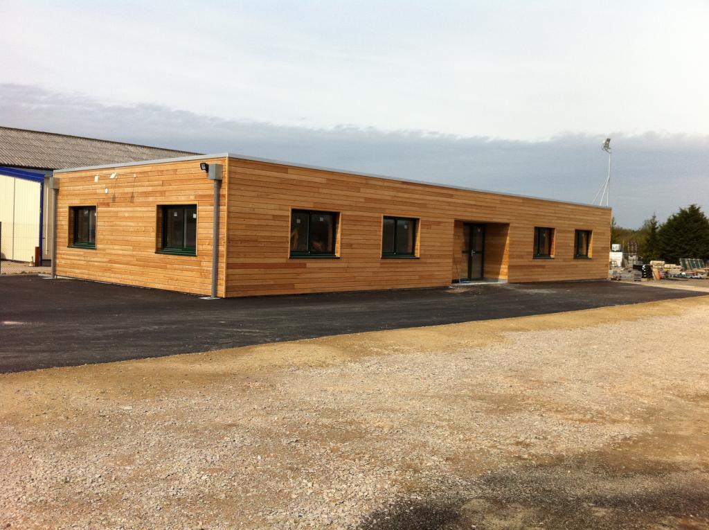 Maison ossature bois valognes construction manche cotentin for Entreprise construction maison bois